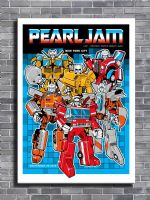 PEARL JAM - LIVE @ NEW YORK canvas print - self adhesive poster - photo print